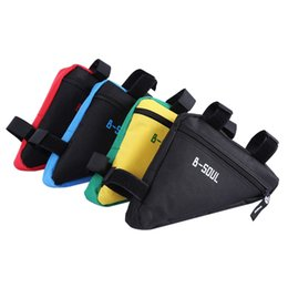 Wholesale Insulated Tube - B - SOUL 4 Colors Cycling Bicycle Triangle Bags Waterproof Frame Front Tube Bag Mountain Bike Triangle Pouch Holder Saddle Bag +B