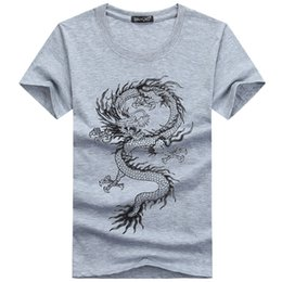 Wholesale Tattoo Sleeves Shirt Sale - Wholesale- Hot sale New 2017 Summer Fashion Brand T Shirts for Men Novelty Dragon Printing Tattoo Male O-Neck Hip Hop T Shirts S-5XL