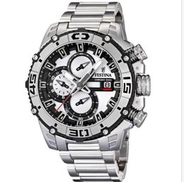 Wholesale Tour France Watch - F16599 1 Men 's Quartz Watches 2014 Tour DE France Chrono Bike Fashion Sports Style Chronograph White Dial Stainless Steel Band original box