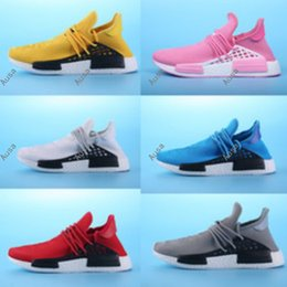 Wholesale Discount Mens Tennis Shoes - New Human Race Pharrell Williams X Sports Running Shoes,discount Cheap top Athletic mens Outdoor Boost Training Sneaker Shoes