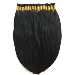 Wholesale Human Hair For Braids - 8A Micro mini Braiding Hair Brazilian Bulk Hair For Braiding One Bundle Lot 100% Human Straight Brazilian Braiding Hair