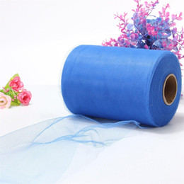 """Wholesale Blue Tulle Rolls - Wholesale-Soft 6""""x100yd Tulle Roll Spool Wedding Craft Bridal Party Decor 6""""x300' Blue"""