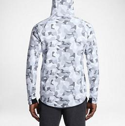 Wholesale Plus Size Camo Jacket - Asia Size plus velvet thickening casual jacket, WINDRUNNER Tech Sphere Full-Zip FLEECE CAMO Hoodies Sweatshirts