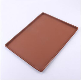 Wholesale Heat Resistant Coatings - Multi Function Silicone Baking Mats Rectangle Bake Pad Soft Roast Mat Heat Resistant Swiss Roll Cake Pads CCA6252 60pcs