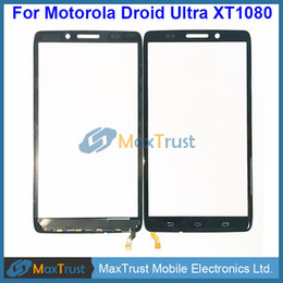 "Wholesale Maxx Bar - Top Quality 5.0"" For Motorola Droid Ultra XT1080 Maxx XT1080M XT10820M Touch Screen Digitizer Glass Panel Sensor Black Color"