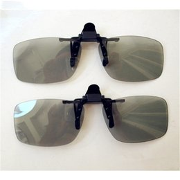 Wholesale making 3d movies - Wholesale- High quality Myopia Clip 3D Glasses Make Eyes See 3D Effect Movie Passive TV with Glasses Box NEW
