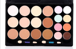 Wholesale Camouflage Concealer Palette - Concealer palette 20 colors Face Cream Concealer Facial Care Camouflage Makeup Palette with Makeup Brushes 20colors