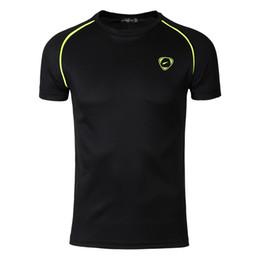 Wholesale Slim Fit Designer Shirts Men - Wholesale- New Arrival 2017 men Designer T Shirt Casual Quick Dry Slim Fit Shirts Tops & Tees Size S M L XL LSL182