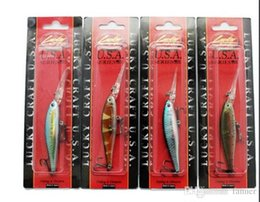 Wholesale Deep Water Bass Minnow - Wholesale- Minnow Fishing Lure Lucky Craft Hard Bait Fresh Water Deep Water Bass Walleye Crappie Minnow Fishing Tackle 4pcs lots