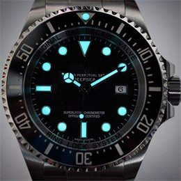 Wholesale Ocean Dive Watches - Luxury brand watch for men High quality Mens Ocean dive watches Ceramic Stainless Steel Black dial Male Automatic mechanical wristwatches