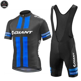 Wholesale Giant Bike Jersey Set - NEW Customized 2017 Multi Chooses GIANT mtb road RACE Team Bike Pro Cycling Jersey Sets Bib Shorts Clothing Breathing Air JIASHUO