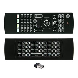 Wholesale Ir Backlight - MX3 Air Mouse Backlight MX3 Wireless Keyboard 2.4G IR Learning Fly Air Mouse Backlit For Android TV Box