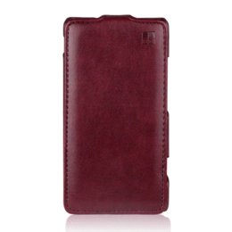 Wholesale Xperia Sp Leather - for SONY Xperia SP Case Luxury Flip Leather Case for Sony Xperia C5303 M35C M35h C5302 C5306 Vertical Phone Cover Capa iMUCA