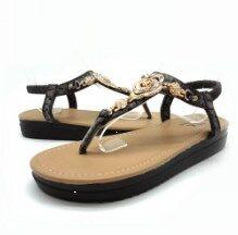 Wholesale Thick Sandals Wholesale - 2017 factory direct muffins flat sandals mkross diamond roses thick bottom women's sandals newRoman sandals
