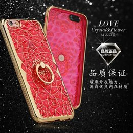 Wholesale I Phone Case Rhinestones - Fashion Luxury 3D Crystal Transparent Coves for I Phone 7 Plus soft TPU Apple 6s Smart Cellphone Dirt-resistant water-proof Case With Holder