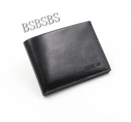 Wholesale Male Leather Shorts - 2017 Male Genuine Leather luxury wallet Casual Short designer Card holder pocket Fashion Purse wallets for men free shipping