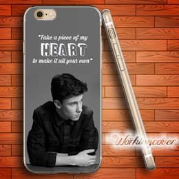Wholesale Iphone 5c Silicone Transparent - Fundas Shawn Mendes Heart Soft Clear TPU Case for iPhone 6 6S 7 Plus 5S SE 5 5C 4S 4 Case Silicone Cover.
