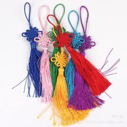 50pcs / lot nouvel an noël décorations pour la maison traditionnelle rouge chinois noeuds chanceux suspendus cadeaux pour voiture bureau maison FestivaL Decor k01 ? partir de fabricateur