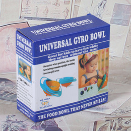 Wholesale Gyro Bowls - Universal Gyro Bowl Baby Children Leak Proof Fall Can Rotate At 360 Degrees Feeding Tool Creative Circular Durable Bowls 4 4hk J