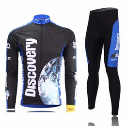 Wholesale Discovery Cycling Jersey Long Sleeves - 2017 Autumn men discovery team bicycle exercise cycling clothing thin wicking cycling mtb jersey long sleeve 2XS-6XL