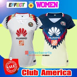Wholesale Woman Black Club - NEW 17 18 LIGA MX Mexico Club America Women Soccer Jerseys 2017 2018 Chivas Tigres Camiseta de futbo Girl football shirts Size XL