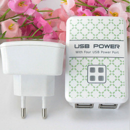 Wholesale Usb Charger 5v 5a - Phone USB 5V 5A Dual Ports USBCharger Fast Wall Charger EU   US   UK Plug Portable Smart TravelCharger For iPhone Samsung Huawei