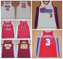 Wholesale M Parks - USA Dream Team 45 Donald Trump Jersey Hollywood Richmond 22 Timo Cruz Movie Basketball Jerseys Sunset Park 1 Fredro Starr Shorty