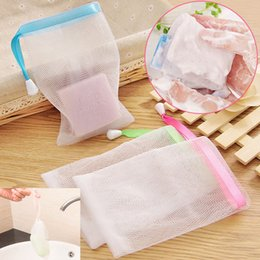 Wholesale Net Wash Bags Wholesale - Foaming Net Handmade Soap Bubble Foaming Net Cleansing Cream Cleansing Soap Wash Soap Bubble Bag Net Bag WX-T06
