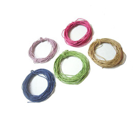 Wholesale Wax Cotton Cord Wholesale - 50Yards lot 1mm Mixed Colors Cotton Waxed Cord For DIY Craft Jewelry Findings Components WC0 Free Shipping