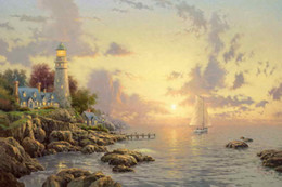 Wholesale Painting Art Modern - The Sea Of Tranquility Thomas Kinkade Oil Paintings Art Wall Modern HD Print On Canvas Decoration No Frame