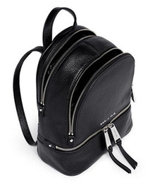 Wholesale Rucksack Leather - designer backpacks leather luxury black rucksack bag for women girl