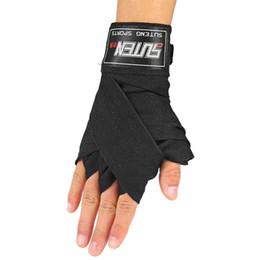 Ленточные ленты онлайн-1 пара ширина 5 см длина 2.5 м хлопок эластичный бокс Handwrap Санда борьба бандаж запястье Бодибилдинг ленты фитнес ремни