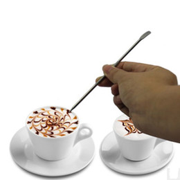 Wholesale Popular Kitchens - Popular Coffee Latte Stainless Steel Art Pen Tool Espresso Machine Cafe Kitchen Free Shipping