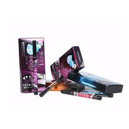 Eye-liner bleu noir en Ligne-2017 YANQINA 36H Maquillage Eyeliner Crayon Violet Bleu Noir Brun 4 Couleurs Étanche Eyeliner Stylo Liquide Eye Liner Cosmétiques 12 pcs chaque ensemble