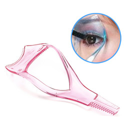 Wholesale Mascara Guide - Wholesale-Color Random New Arrival Make up Mascara Guide Applicator Eyelash Comb Eyebrow Brush Curler Tool Free Shipping
