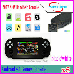 Wholesale Android Touch Screen Game Console - 5pcs Hot sale! 2017 NEW 3.5 Inch Android Handheld Game Console Support for PSP Games Wi-Fi with Touch Screen For 1080P HDMI Output YX-TU-1