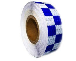 Wholesale Auto Body Tips - warning reflective tape PVC 5CM*3M blue and white for car styling auto motorcycle safety