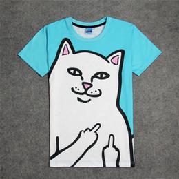 Wholesale N 3d - Wholesale- Fashion Rip N Dip Lord Nermal 3D Print T-shirt Cotton Unisex Summer Tee Shirts Teen Loose Homme Tops The ripndip Cat