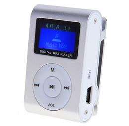 Lector de sd mp3 online-Al por mayor- Moda Mini reproductor de MP3 Clip USB LCD de pantalla de soporte para 32 GB micro SD puede utilizarse como lector de tarjetas