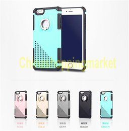 Wholesale Types Pc Case - New Ring COOL PC+TPU+Ring holder Case for iphone6 6plus iphone7 Bracket type mobile phone shell heat sink design Back cover for iphone