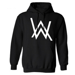 Wholesale Mens Star Jacket - Wholesale- new autumn Rock Star Alan Walker Mens Hoodies Jacket Outerwear Electronic Hooded Fashion Casual Men pullover Homme clothing