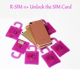 Wholesale Sb Au - Unlock Card for iPhone 7 Plus R Sim 11+ R-sim 11plus rsim 11+ iphone 6 Unlocked iOS10 9 8 7 4G CDMA SB AU SPRINT