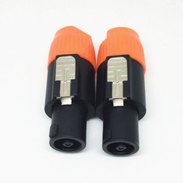 Wholesale Hifi Hdmi - 50PCS\Lot High Quality Speakon 4 Pin Male Plug Compatible Audio Cable Connectors