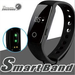 Wholesale Heart Rate Calorie Monitor - ID107 Smart Bracelet band Fitness Tracker Activity Heart Rate Monitor Health Wristband Bluetooth Pedometer Calorie Counter for Android iOS