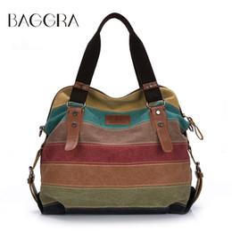 Wholesale Color Block Handbags Wholesales - Wholesale- Fashion Top Quality Women Bag Totes Canvas Handbags Color Block Shoulder Bag Casual Messenger Bags Large Totes Bolsa Feminina