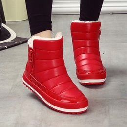 Wholesale Zipper Winter Boots For Women - Snow women Boots Zipper Women Rain Boots Female Thick Warm winter Shoes Ankle Boots for women