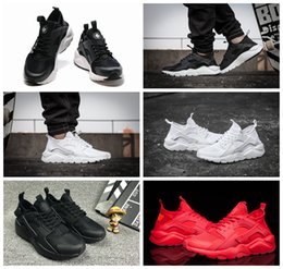 Wholesale Spring Shoes For Women - 2016 air Huarache IV Running Shoes For Men & Women, Black White High Quality Sneakers Triple Huaraches Jogging Sports Shoes