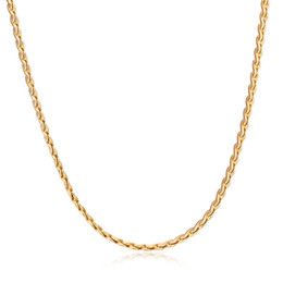 """Wholesale Halloween Gold Costume - New Arrivals Yellow or Rose Gold Color 1.5MM Wide 45cm 18"""" Long """"S"""" Shape Chain Necklace Party Costume Jewelry Bijoux Hot Gift"""