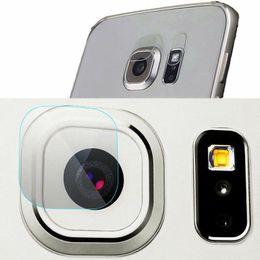 Wholesale Screen Tempered Glass Lens - 50x Rear Camera Lens + 50x Flash Lens Flexible Tempered Glass For Samsung S6 S6Edge S7 S7Edge Ultra Thin Soft Fiber Screen protector Film