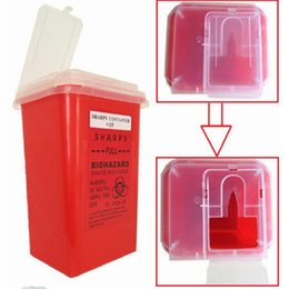 Wholesale Sharps Tattoo - Professional Plastic Sharps Containers for Tattoo Artists Newest Tattoo Sharps Container Biohazard Needle Disposal